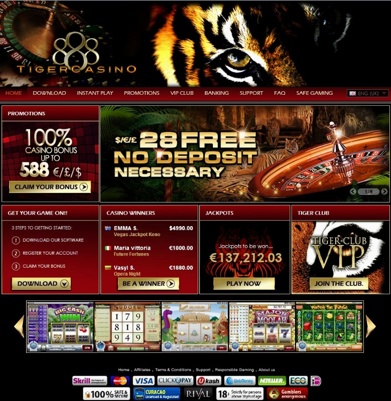 888 casino tiger