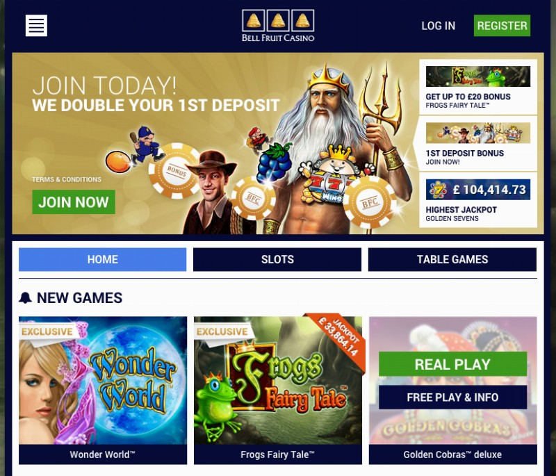 bell fruit casino online