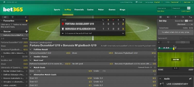 bet365 live scores