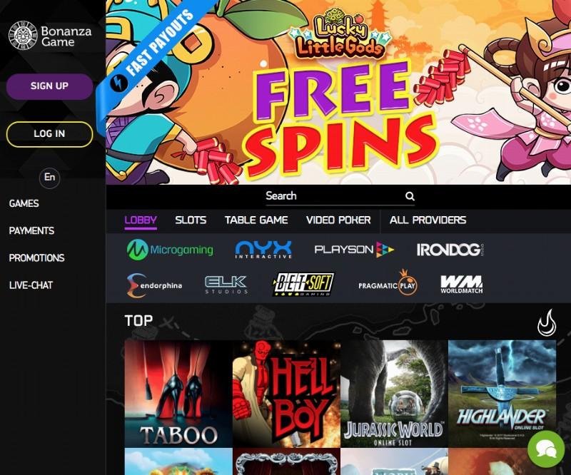 Bonus Game Website
