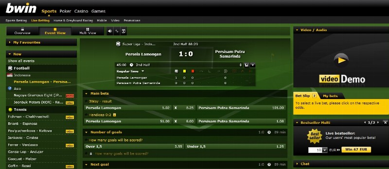 live betting bwin