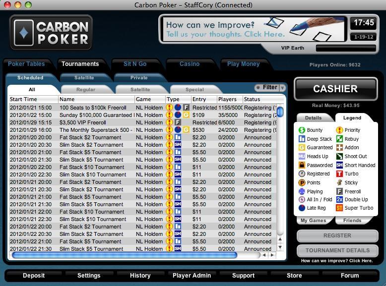 Carbon poker ndb freeroll password