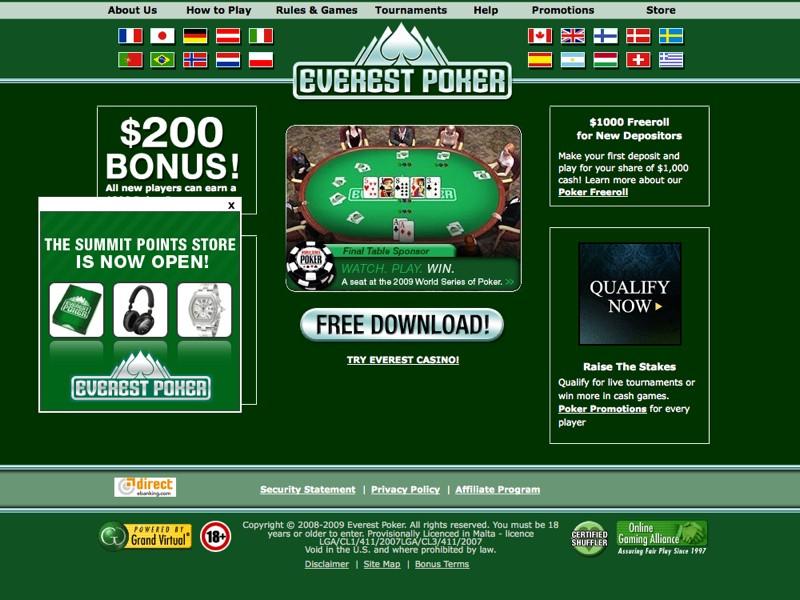 Everest poker bonus 50$