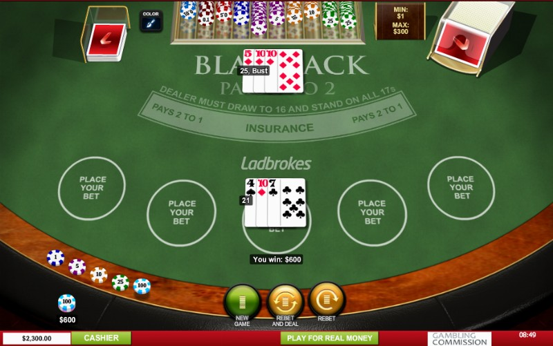 Blackjack bankroll betting