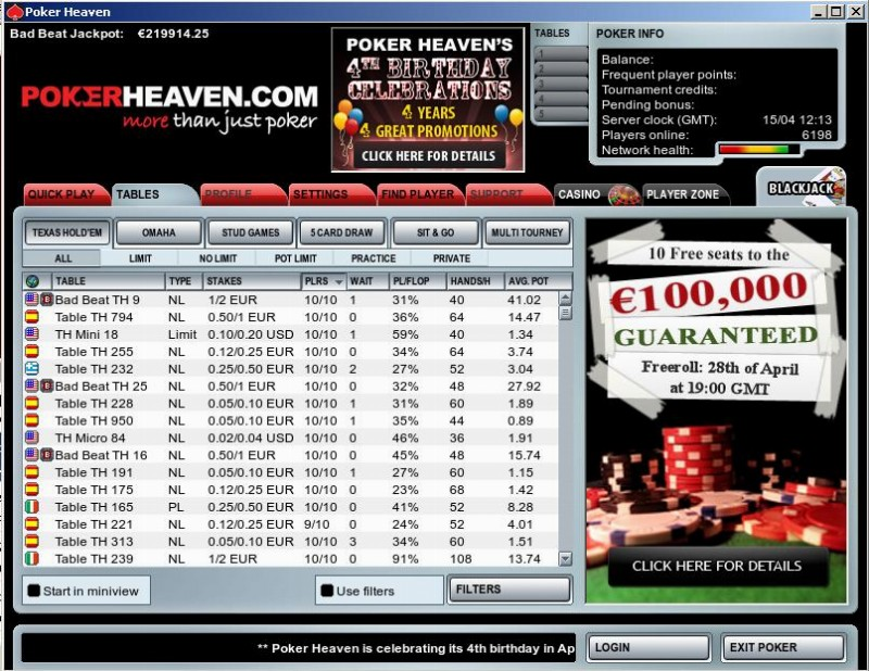Poker heaven freeroll igt downloadable slot games