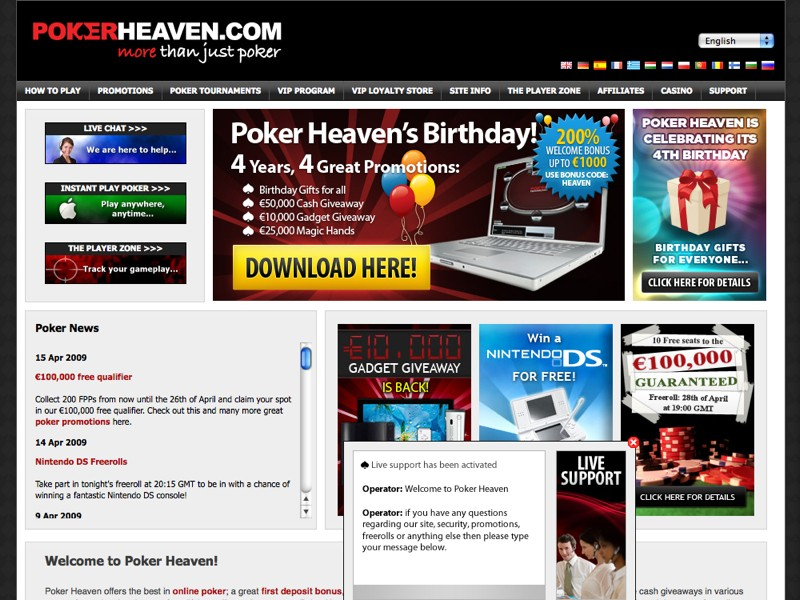 Poker heaven european