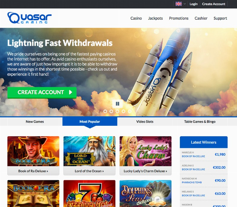 online casino websites quasar