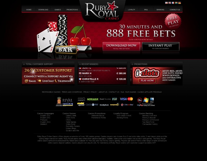 online casino website design