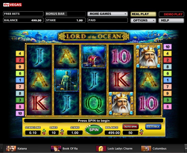 all slots games sky vegas