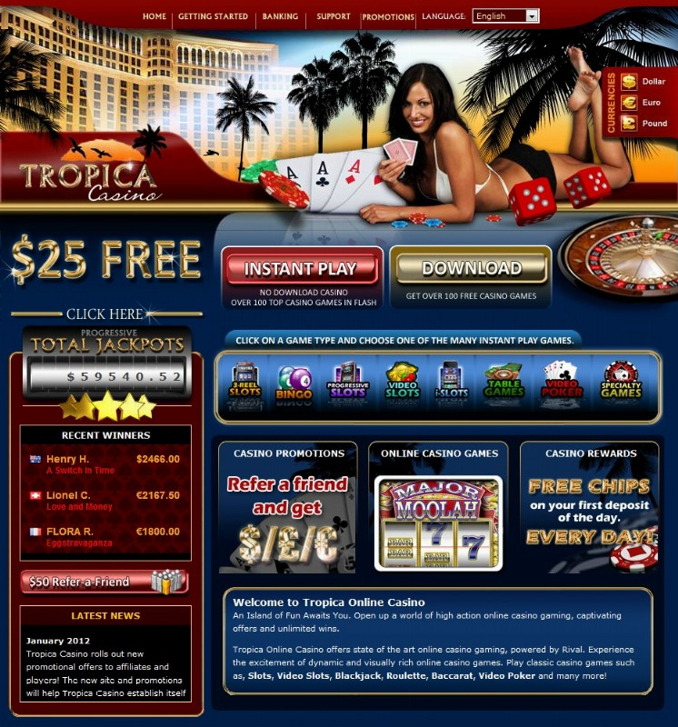 Tropica Casino Review – Is this US Casino Safe to Play at?