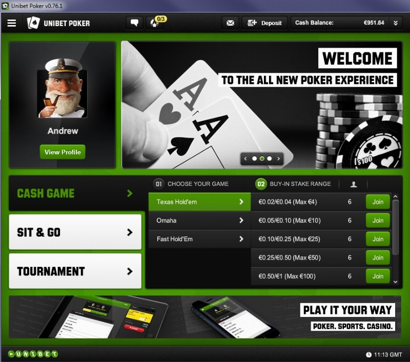 unibet poker password
