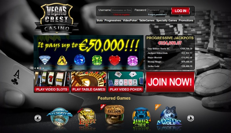 no deposit bonus codes for vegas crest casino